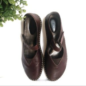 BORN • Brown Moc Stitch Mary Jane